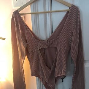 Urban Outfitters Tops - ROSE RIBBED BODYSUIT